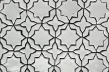 Arabesque, white, ceramic, hand-made, tiles, mosaic